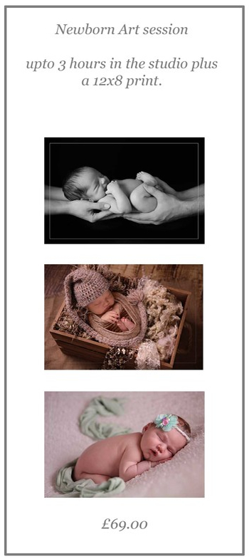 Newborn Art Session Gift Voucher